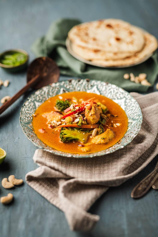 Indisches Curry mit Naan Brot, Foodfotografin Alina Köster Fotografie